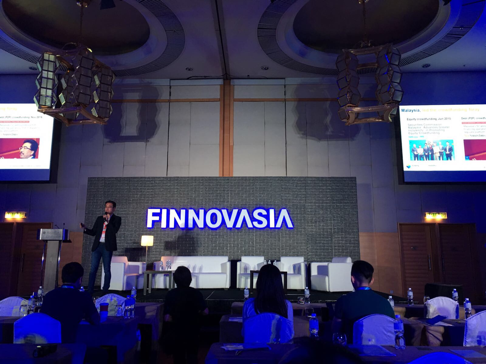 Funding Societies Co-Founder Kelvin Teo at FINNOVASIA KL 2017